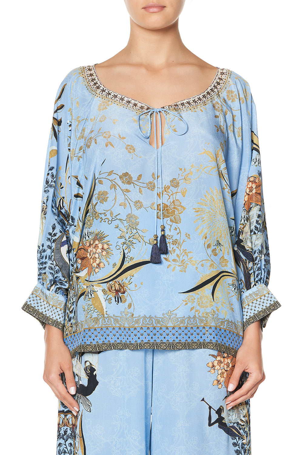 RAGLAN SLEEVE BLOUSE WITH CUFF FAIRY FOUNTAIN