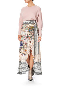 WRAP HIGH LOW SKIRT KINDRED SKIES