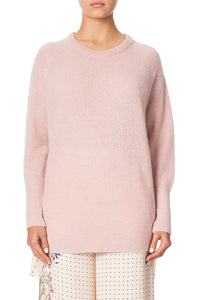 RAGLAN SLEEVE JUMPER WITH PRINT BACK KINDRED SKIES