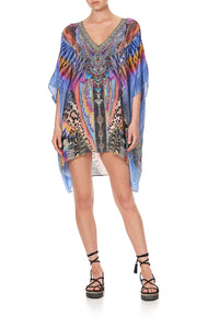 RECTANGULAR V NECK KAFTAN LOVE ON THE WING