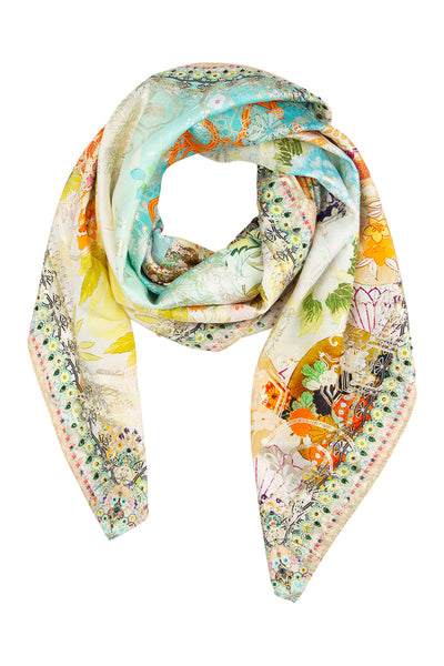 CAMILLA LARGE SQUARE SCARF RETRO'S RAINBOW