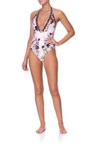 RING DETAIL PLUNGE V ONE PIECE FAIRY GODMOTHER
