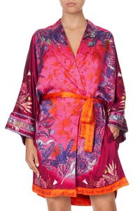 ROBE WITH NARROW COLLAR TROPIC OF NEON