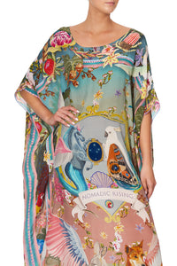 ROUND NECK KAFTAN LETS TAKE A TRIP
