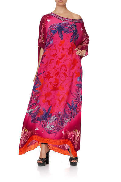 ROUND NECK KAFTAN TROPIC OF NEON