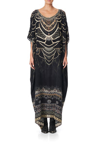 ROUND NECK KAFTAN UNDER A FULL MOON