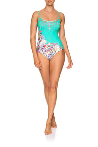 ROUND NECK ONE PIECE FLORAISON