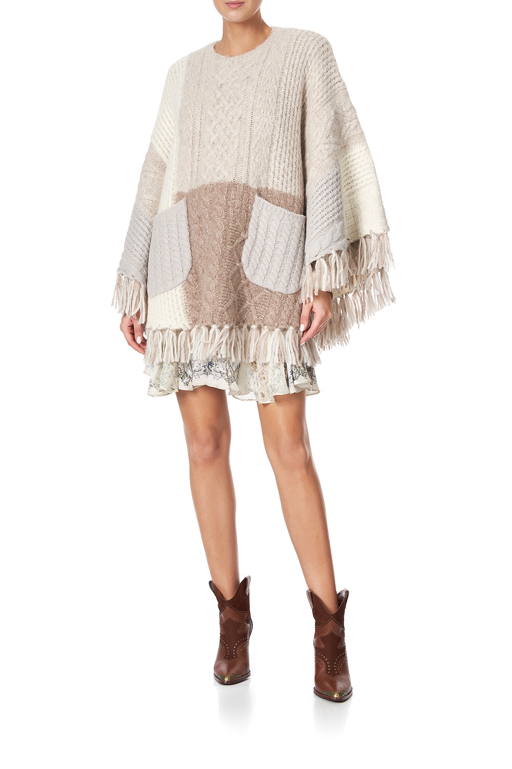 ROUND NECK PONCHO WITH POCKETS COUNTRY DIARIES