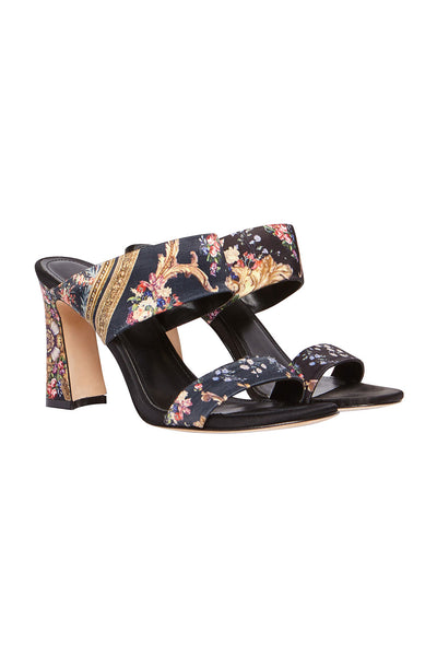 CAMILLA SANDAL HEEL MULE FRIEND IN FLORA