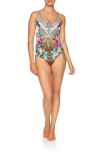 SCOOP NECK & BACK ONE PIECE CHAMPAGNE COAST