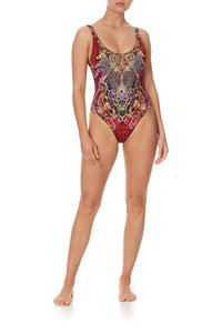 SCOOP ONE PIECE WITH TRIM SLAVE TO THE RHYTHM