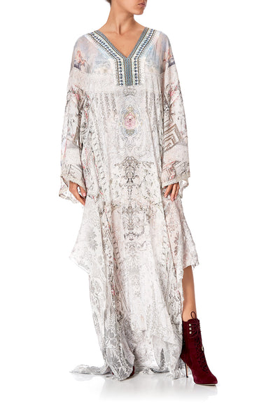 SHEER KAFTAN WITH SLIP CRYSTAL CASTLE