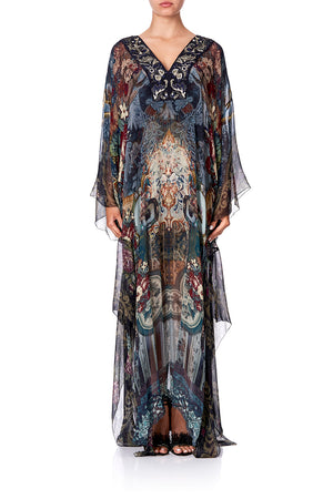 f5e85c83bd1 SHEER KAFTAN WITH TIE AND SLIP HOTEL BOHEME SHEER KAFTAN WITH TIE AND  SLIPHOTEL BOHEME