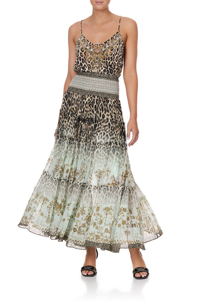 SHEER TIERED MAXI SKIRT NOMADIC NYMPH