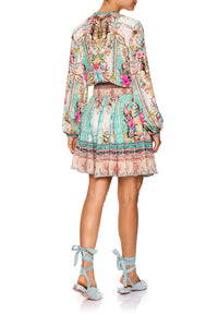 CAMILLA SHIRRED RELAXED SHORT DRESS CALL IT DREAMING