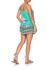 SHOESTRING STRAP PLAYSUIT FLORAISON
