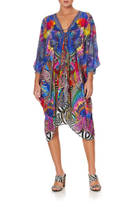 SHORT KAFTAN WITH HARDWARE PSYCHEDELICA