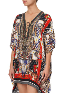 SHORT LACE UP KAFTAN DEAR BRIGITTE