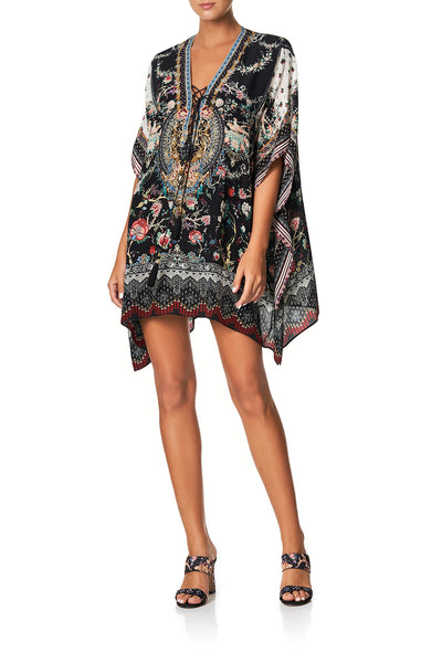 CAMILLA SHORT LACE UP KAFTAN HAUTE PROVINCIAL