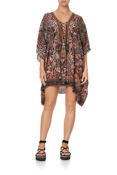 SHORT LACE UP KAFTAN LIV A LITTLE