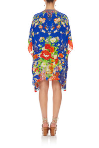 CAMILLA SHORT LACE UP KAFTAN PLAYING KOI