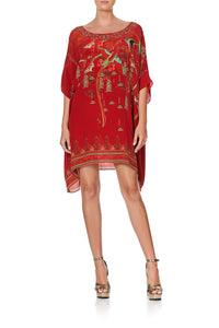SHORT ROUND NECK KAFTAN FORBIDDEN FRUIT