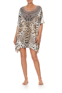 SHORT ROUND NECK KAFTAN JAGUAR