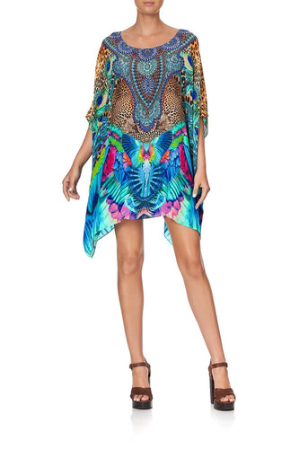 SHORT ROUND NECK KAFTAN MOTHER XANADU