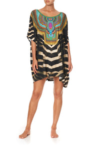 SHORT ROUND NECK LOUNGE KAFTAN BAKORA