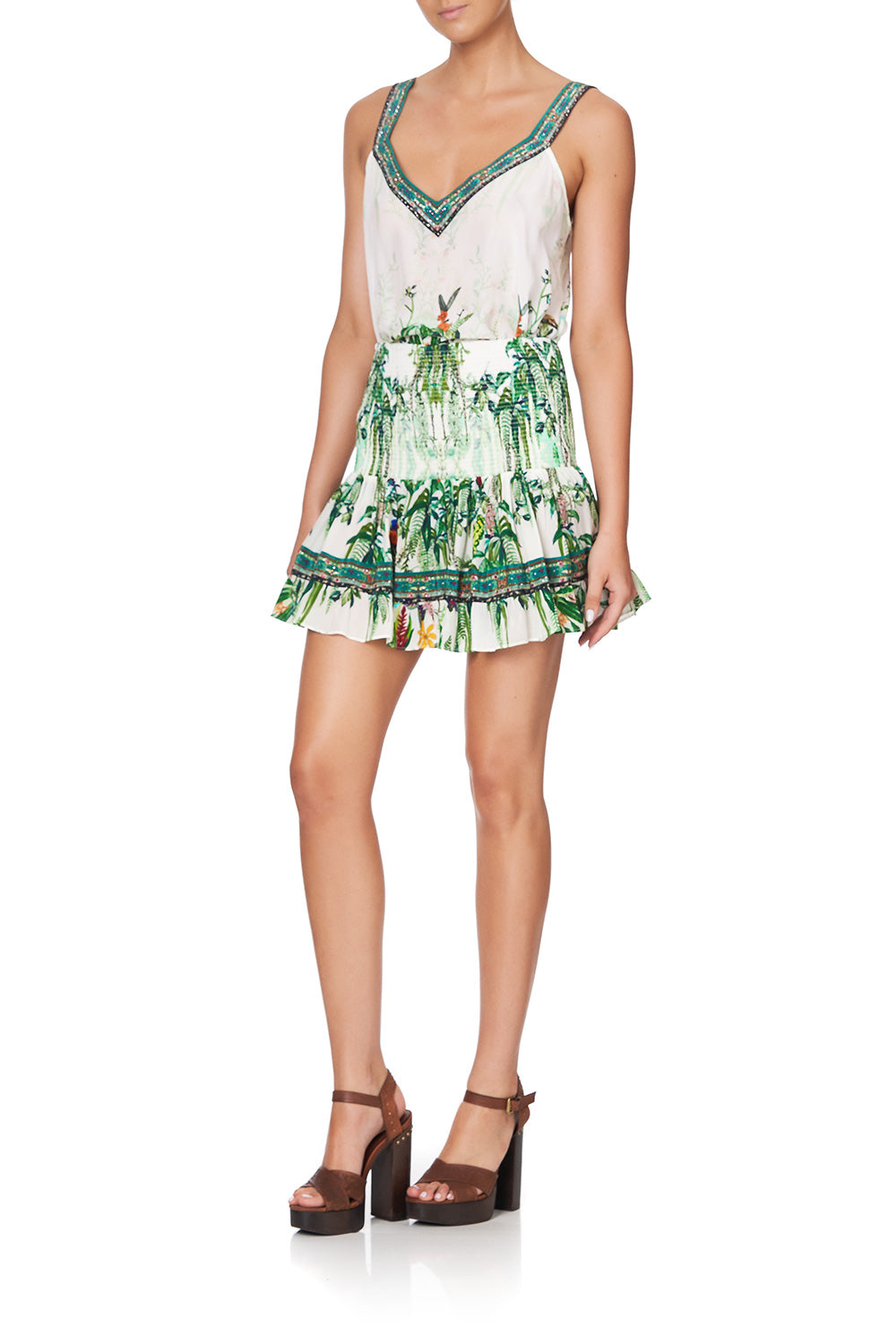 SHORT SHIRRED SKIRT DAINTREE DARLING