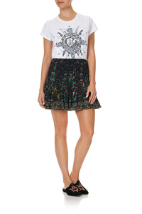 SHORT SHIRRED SKIRT WISE WINGS