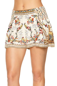 SHORTS WITH SIDE FLOUNCE OLYMPE ODE