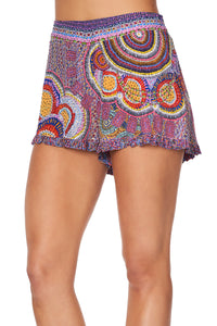 SHORTS WITH FRILL HEM WARLU DREAMING