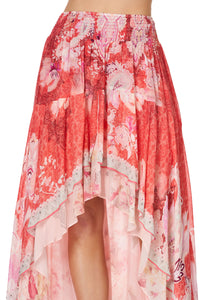 SKIRT WITH DOUBLE LAYER HEM PALACE MUSE