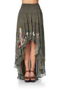 SKIRT WITH DOUBLE LAYER HEM WATCHFUL WINGS