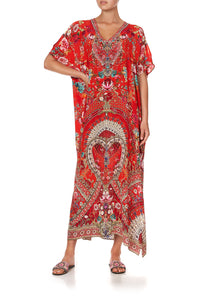SLIM FIT KAFTAN WITH SPLIT CAMEOS CAN CAN