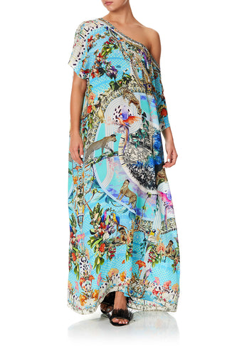 SLIM LINE ROUND NECK KAFTAN GIRL FROM ST TROPEZ