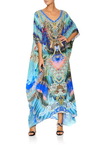 CAMILLA SLIM LINE V NECK KAFTAN FREEDOM FLIGHT