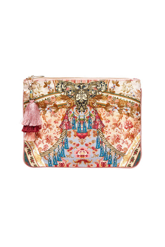 CAMILLA SMALL CANVAS CLUTCH JEANNE QUEEN