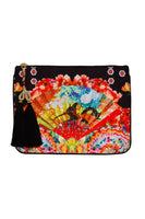 CAMILLA PAINTED LAND SMALL CANVAS CLUTCH