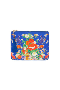 CAMILLA SMALL CANVAS CLUTCH PLAYING KOI