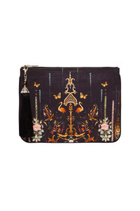 SMALL CANVAS CLUTCH REBELLE REBELLE