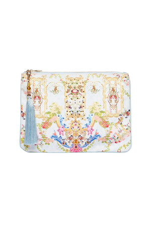2b6d1d81054a46 SMALL CANVAS CLUTCH VERSAILLES SKY (O S)