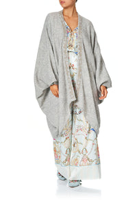 CAMILLA SOFT KNIT PONCHO VERSAILLES SKY