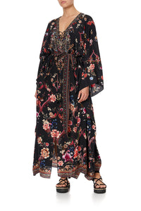 SPLIT HEM LACE UP KAFTAN A GIRL LIKE YOU