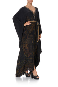 SPLIT HEM LACE UP KAFTAN COBRA KING