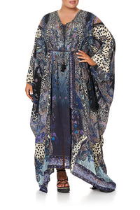 SPLIT HEM LACE UP KAFTAN FESTIVAL EXPRESS - O/S
