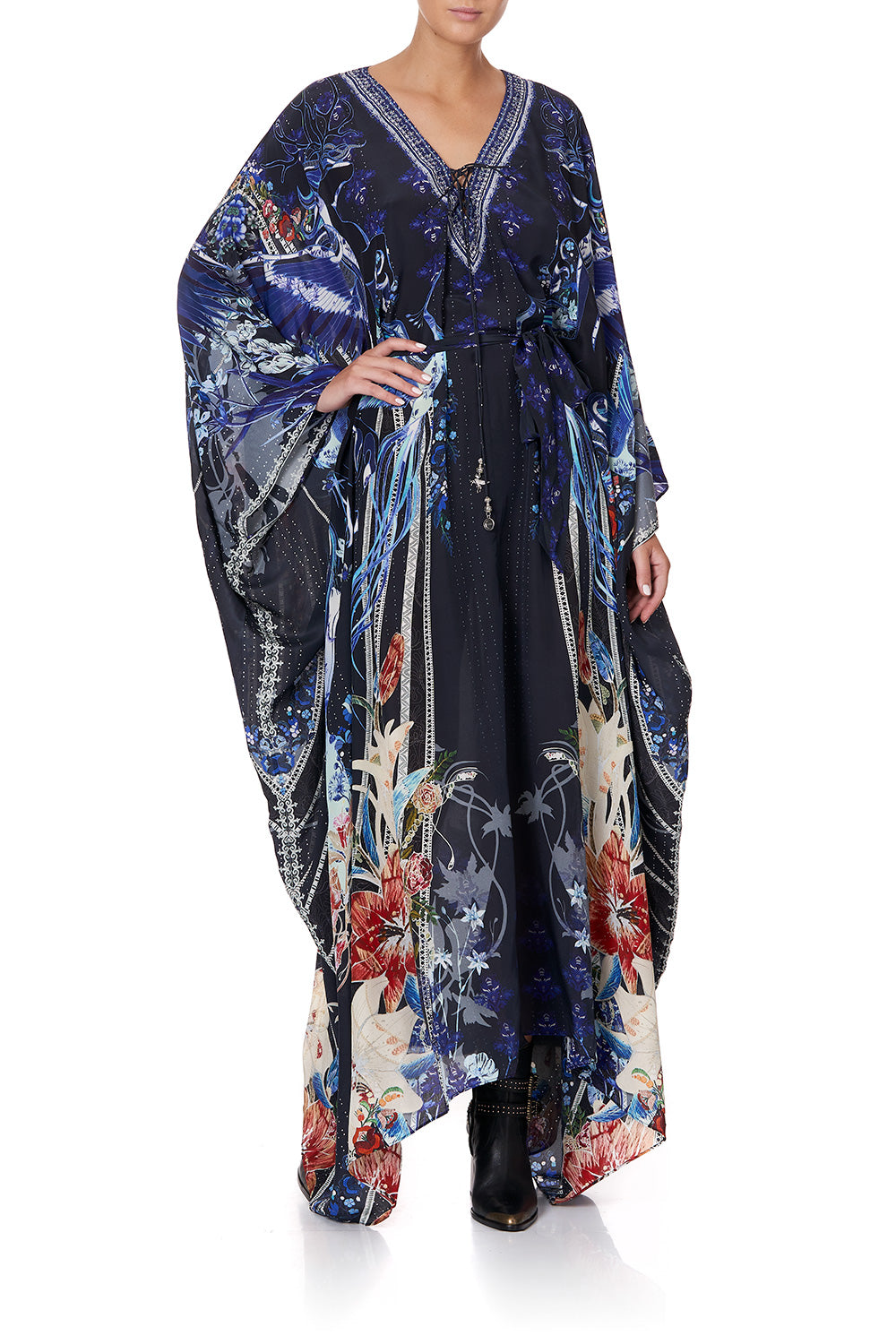 SPLIT HEM LACE UP KAFTAN MARE MYSTIQUE