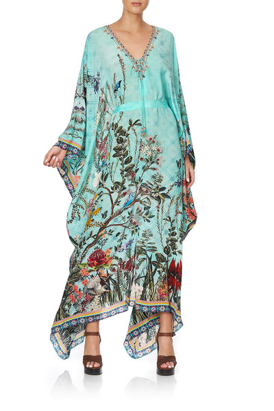 SPLIT HEM LACE UP KAFTAN MILLAS BACKYARD