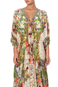 SPLIT SLEEVE KAFTAN WITH HARDWARE FAIR VERONA